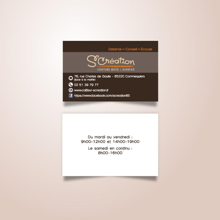 Conception Carte Professionnelle Graphiste Print Et Web Nantes Vendee