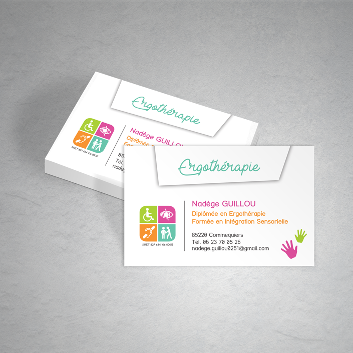 Carte De Visite Sandra Guilbaud Graphiste Print Web Commequiers Pays