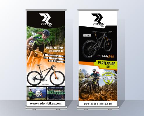 Roll-up banner, Com'alibi, Graphiste Print & Web, Nantes, La Roche sur Yon, Les Sables d'Olonne, Challans, Saint Gilles Croix de Vie, Saint Jean de Monts, Vendée, France